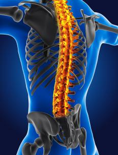 Hyperextension of the spine is not recommended for people with a spinal joint injury.