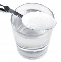 Baking soda mixed with a small amount of water can be applied to the underarms as a salt deodorant.