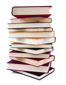 A stack of books featured in the Bulwer-Lytton Fiction Contest.