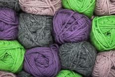 Worsted yarn is a type of thick thread often used in knitting.