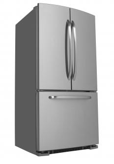 Stainless steel contact paper can give appliances the look of stainless steel at a fraction of the cost.