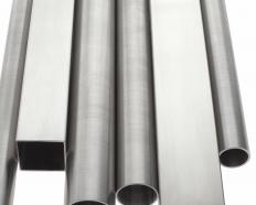 Galvanized steel pipes.