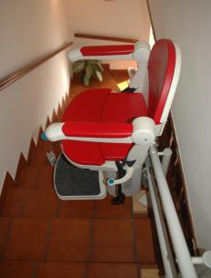 Some stair lifts are also wheelchair lifts, allowing the person to remain in their wheelchair instead of transferring to the lift chair.