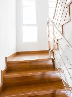 A traditional staircase can offer safety in a loft.