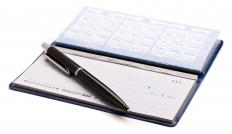 A checkbook with carbon copy pages.