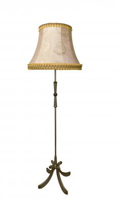 Lamp shades can be constructed from a number of different materials, such as fabric, shells, stained glass and paper.