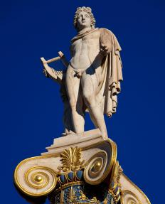 Greek mythology features Apollo, the god of the sun.