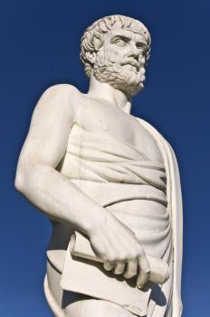 Aristotle taught the theory of rhetoric, but cautioned his students to use it morally.