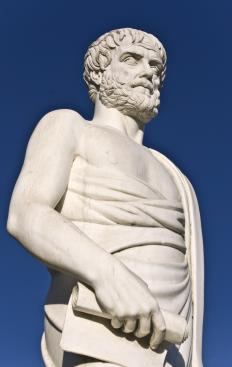 "The Greek philosopher wrote the ""Posterior Analytics""."
