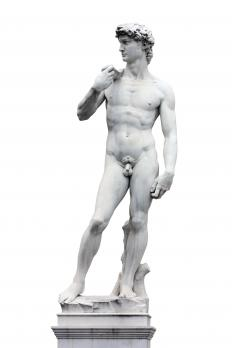 Leonardo da Vinci's statue depicting David.