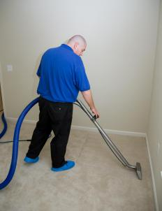 Steam cleaning can be used to clean carpet and furniture.
