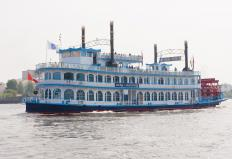 Steamboat Gothic architecture was designed to mimic the elaborate steamboats of the mid-1800s.