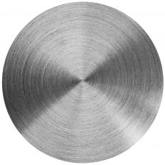 A hardened steel disc.