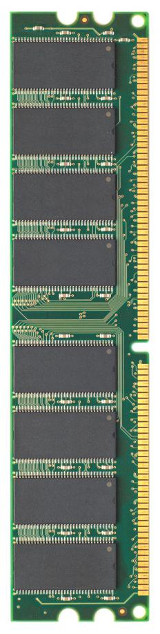 Stick of DDR-RAM (double data rate, rapid access memory).
