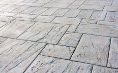 Natural stone flooring materials are somewhat porous and must be periodically coated with a sealer.