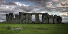 A stone altar sits in the center of England's Stonhenge.