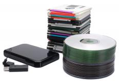 It doesn't matter what format files are, as they can still be stored on any type of media like hard drives, CDs and older floppy disks.