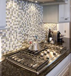 Ceramic and porcelain tile backsplashes are relatively easy to install.