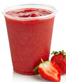 Berries could be used to make a fruit smoothie.