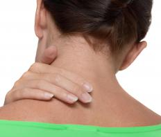 A woman with radiating neck pain.