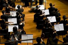A viola concerto features a supporting orchestra.