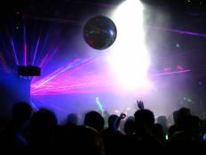 The stroboscopic effect may be witnessed in dance clubs with strobe lighting.