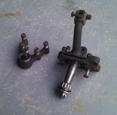 This stub axle and assembly is from a 1966 Volvo; however, most stub axle assemblies are used on trailers.