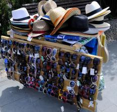 Panama hats are sold in tropical areas.