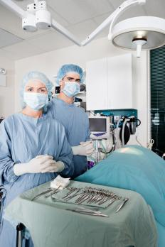 The surgical instrument technician sterilizes and prepares instruments for use in surgeries.