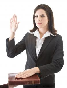 Lawyers take an oath agreeing to abide by ethical requirements.