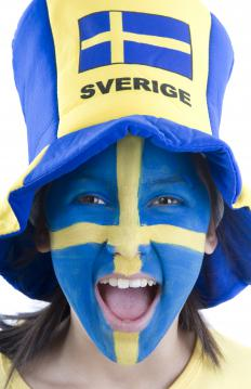 Sweden's flag carries the iconic cross in blue and yellow, and can be seen worn on fans during international sports games.