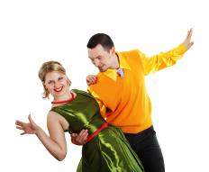 Swing dancing is done to the soulful, upbeat sounds of jazz.