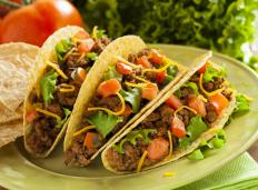 Tacos made with lean ground beef are tasty and healthier than regular ground beef.