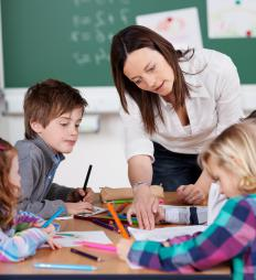 Teacher's assistants are often required to work with students on a one-on-one basis.