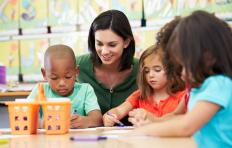 Preschool teachers prepare young students for a formal education.