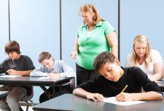 In many schools, the teachers serve as exam supervisors.
