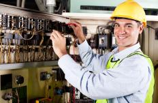 Electricians check wiring during installation and repair to make sure there are no problems.