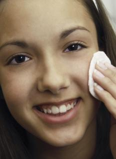 People typically experience acne in their teen years.