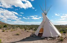 A teepee is a traditional Native American shelter.