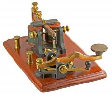A telegraph, which was originally used to make telegraphic transfers.