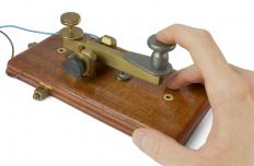 Some ham radio operators use Morse code on a telegraph to communicate with others.