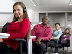 People working at call centers may use wired headsets so they don't have to hold an actual telephone.