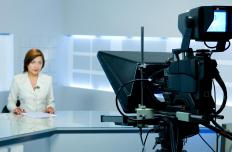 On-air newscasters commonly rely on teleprompters.