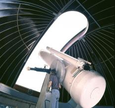 An equatorial platform mount can be used to rotate an entire observatory building.