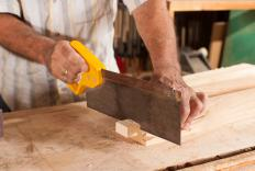 A miter box is typically used with a tenon saw.