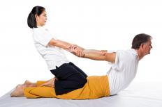 AcroYoga includes Thai massage, a type of massage where the body is put into positions to achieve relaxation.