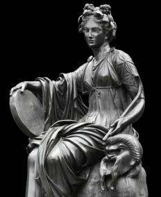 Thalia, the Greek muse of comedy.