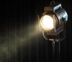 Spotlights are commonly used for yard lighting.