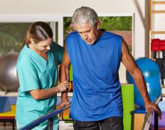 Physical therapy sessions are often important to help people who have undergone transmetatarsal amputations learn to walk comfortably.