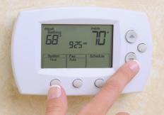 A programmable thermostat may help reduce heating costs.